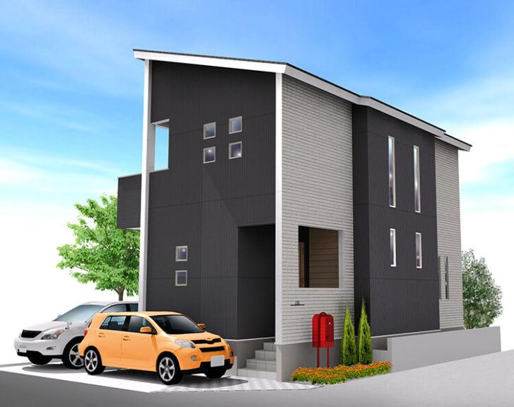 枚方市藤阪東町の分譲地に自由設計のマイホーム