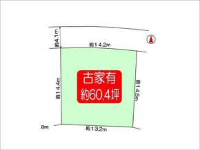 高槻市東上牧の売土地(敷地図)