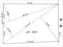 宇治市木幡御蔵山の住宅用地 敷地図