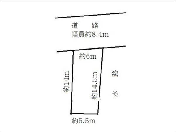 枚方市宮之阪3丁目の売地 敷地図
