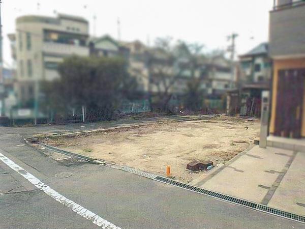 枚方市宮之阪3丁目の土地 現地写真