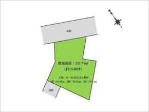 交野市妙見坂の土地物件 星田駅から徒歩18分