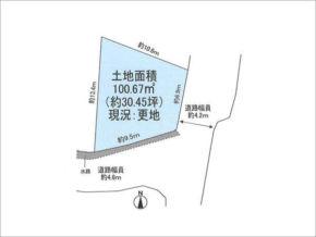 高槻市西五百住町の売地( 現在更地)富田駅まで徒歩9分