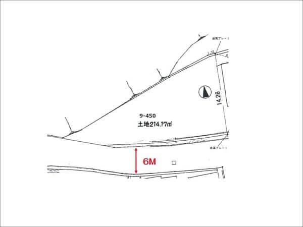 宇治市木幡南山の土地(敷地図)