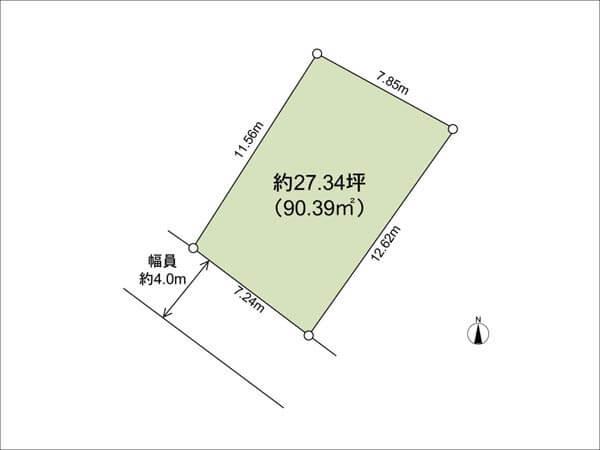 茨木市庄に新築一戸建て(敷地図)