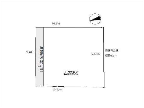 枚方市田口山の売地(敷地図)