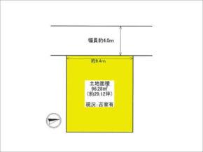 高槻市津之江町の売り土地(敷地図)