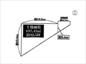 高槻市津之江北町の土地(敷地図)