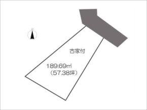 八幡市橋本狩尾の売地(変形地/敷地図)