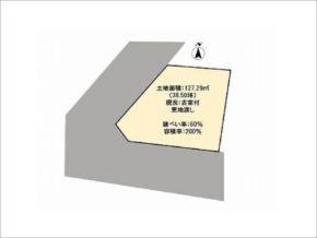 高槻市如是町の土地(店舗や事務所にも適用する売地)