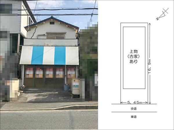 枚方市茄子作に新築注文住宅(古家付きの新築用地)