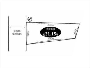 茨木市西福井の売地(敷地図)