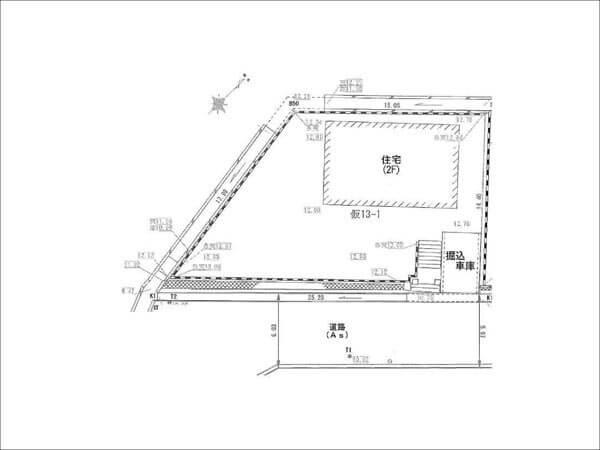 高槻市大和に新築一戸建て(敷地図)