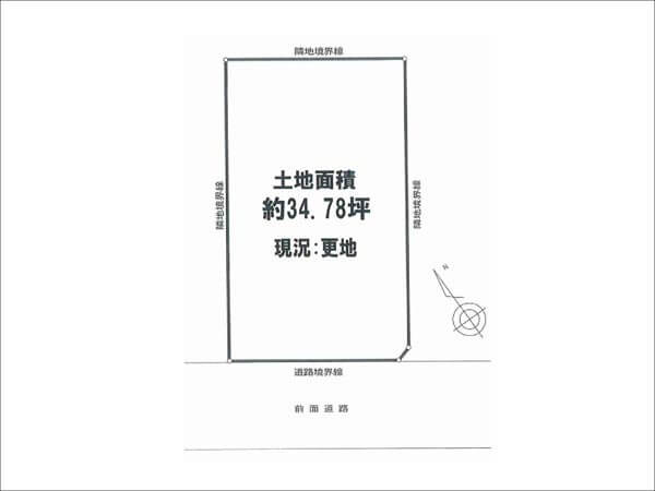 茨木市北春日丘に新築一戸建て(敷地図)