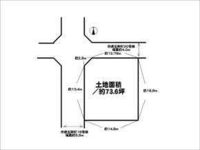 茨木市玉瀬町の土地(北西の角地)
