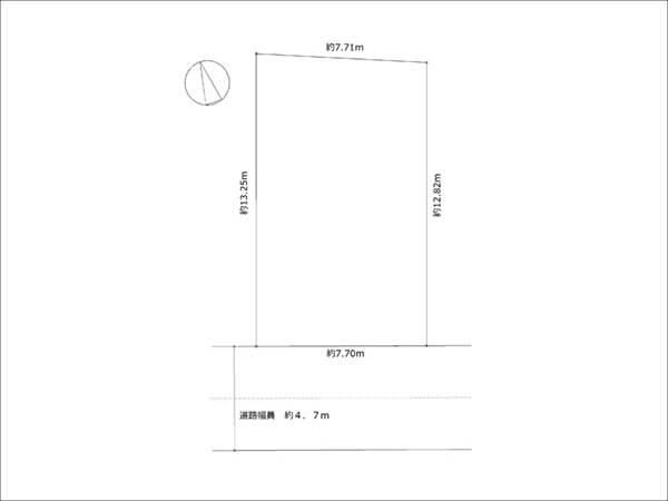 枚方市藤阪東町の新築一戸建て(敷地図)