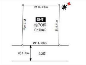 高槻市真上町の土地(敷地図/整形地)