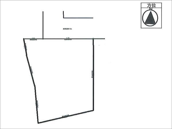 枚方市山之上に新築一戸建て(敷地略図)