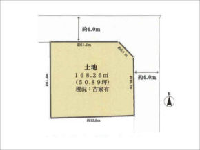 茨木市鮎川の売地(敷地図)