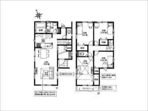 枚方市藤阪東町の建売住宅(間取り図面)