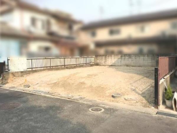 枚方市渚西に新築一戸建て(現在は更地)