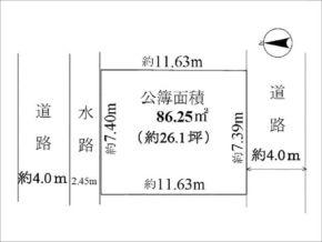 高槻市栄町の土地(敷地図)