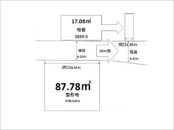 高槻市寿町に新築注文住宅(飛び地とセット販売)