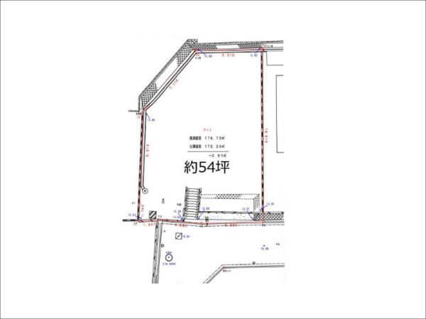 高槻市日吉台一番町に新築注文住宅(敷地図)