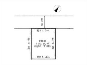 茨木市彩都あさぎの売土地(敷地図)