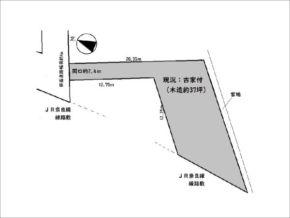 宇治市羽拍子町の売土地(旗竿地/専用通路付きの宅地)