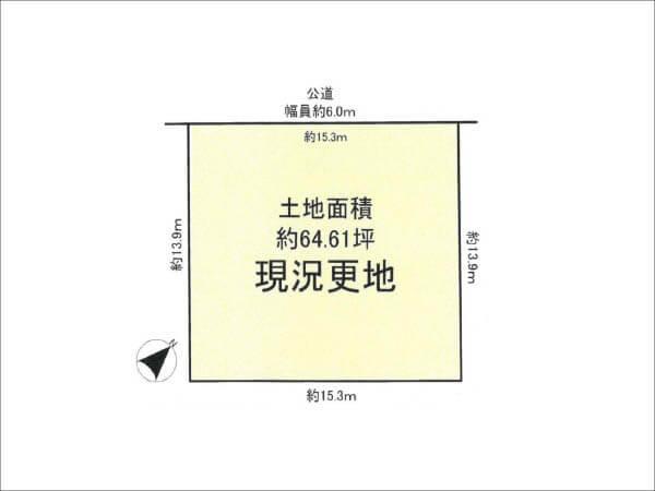 八幡市西山丸尾に新築一戸建て(敷地図)