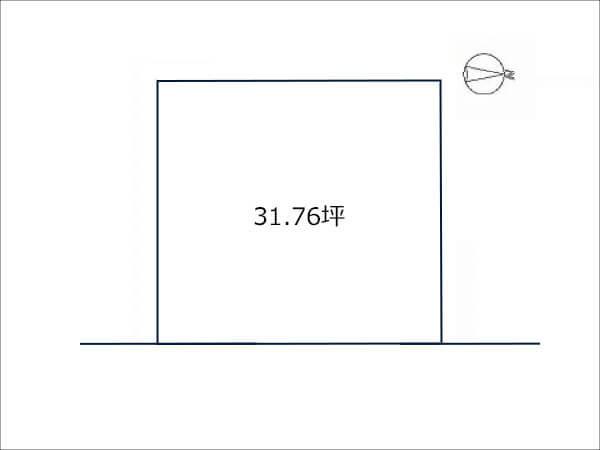 高槻市大蔵司に新築一戸建て(敷地図)