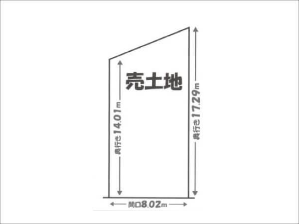 京都市伏見区淀際目町の売土地(敷地図)