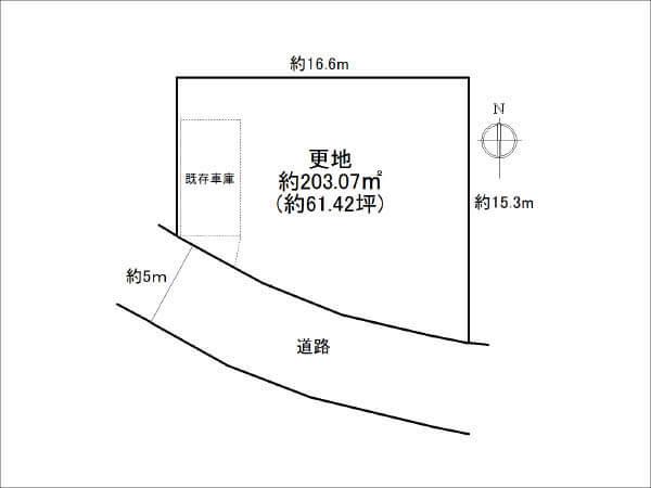 寝屋川市三井が丘の売土地(敷地図)