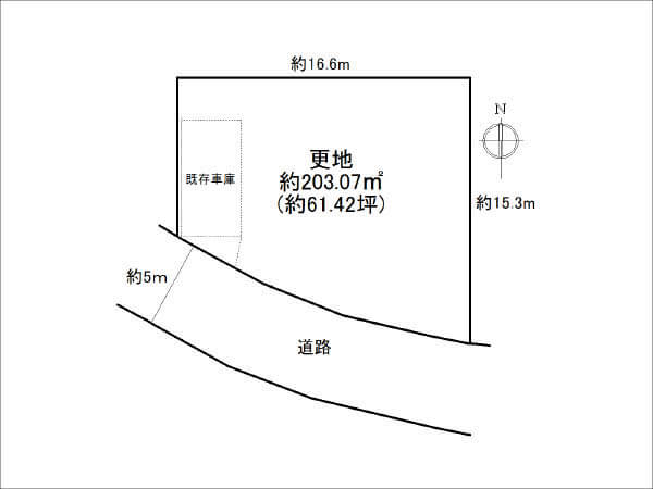 寝屋川市三井が丘に新築注文住宅(敷地図)