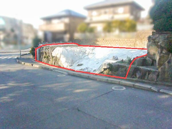 寝屋川市三井が丘に新築一戸建て(現在は更地)