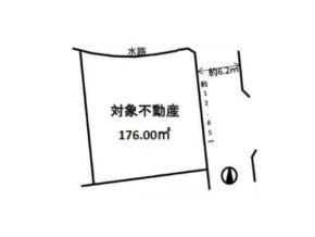 茨木市西福井の売土地(北側に水路あり)