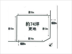枚方市東香里南町の売土地(角地)