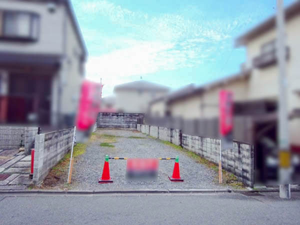 伏見区桃山長岡越中北町の売土地(売り出し前は駐車場)