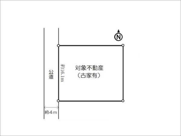 寝屋川市成田東町の売土地(敷地図)