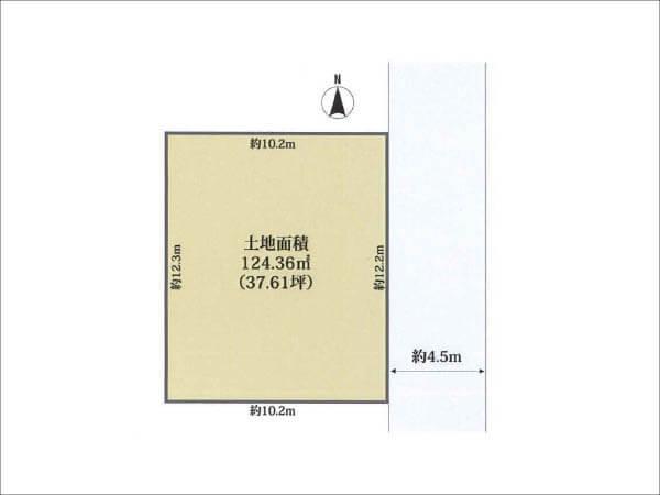 高槻市城南町の売土地(敷地図)