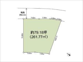 茨木市山手台の売土地(敷地図)