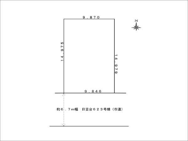 高槻市日吉台に新築一戸建て(敷地略図)
