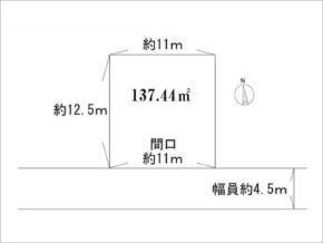 高槻市西冠の売土地(敷地図)