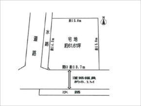 枚方市楠葉朝日の売土地(樟葉駅まで徒歩15分)