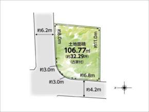 高槻市辻子の売土地(敷地図)