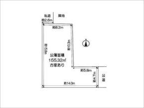 茨木市上野町の売土地(敷地図)