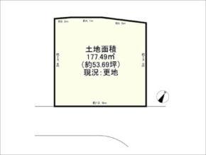 茨木市西安威の売土地(敷地図)
