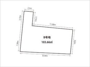 茨木市鮎川の売土地(敷地図)