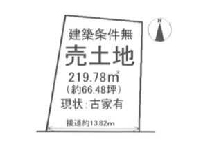 伏見区桃山町本多上野の売土地(桃山駅から徒歩8分)